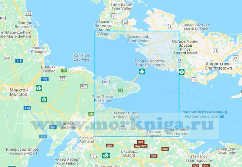 26624 Пролив Нортамберленд. От гавани Виктория до мыса Эгмонт (Маштаб 1:75000)
