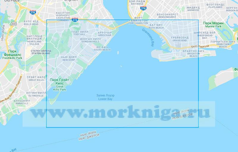 28711 Порт Нью-Йорк. Северная часть бухты Лоуэр-Бей (Магтаб 1:15000)