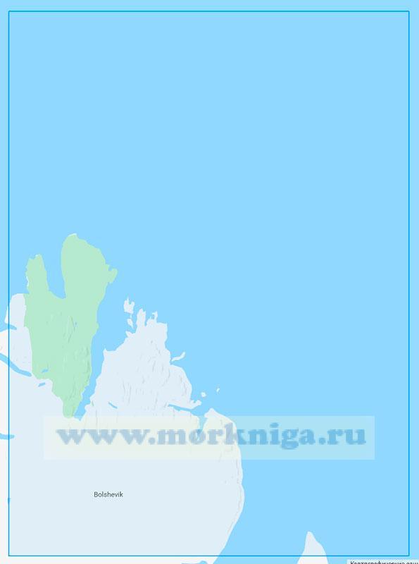 12335 Восточный берег острова Большевик (Маштаб 1:200000)