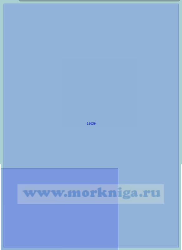 13036 От 70°00'N до 70°47'N от 33°12'E до 34°50'E (Маштаб 1:100 000)