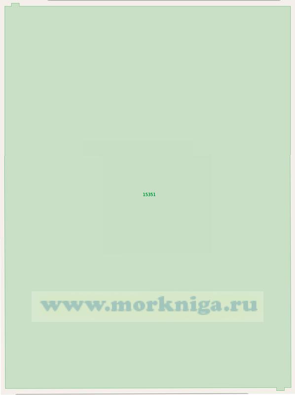 15351 Протока Охотская. Подходы к селению Поликарповское (Масштаб 1: 25 000)