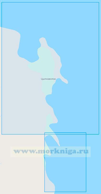 17014 Бухта Цыпнаволок и губы Лауш и Большая Корабельная (Маштаб 1:10000)