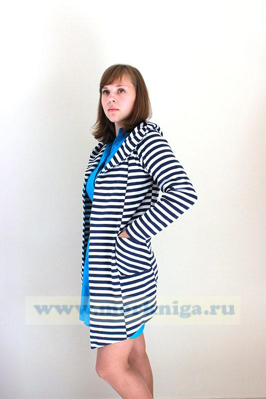 Кардиган Тельняшка (с капюшоном)