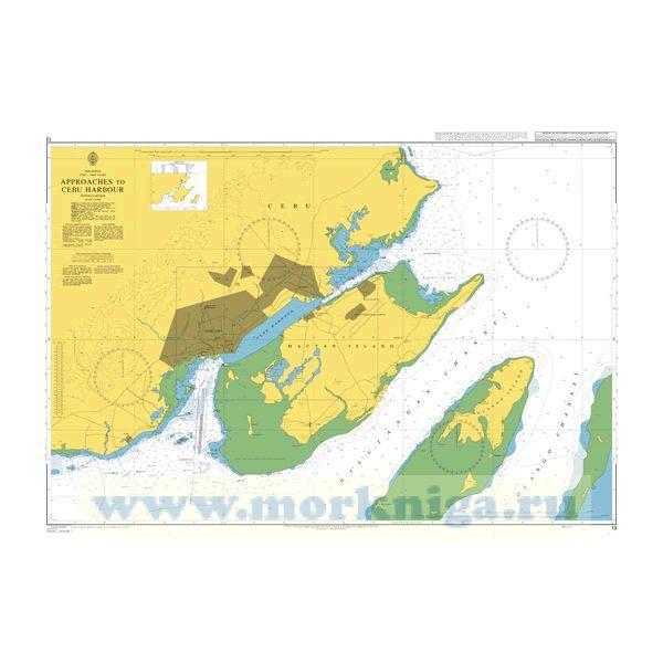 Admiralty chart 13: Approaches to Cebu Harbour Подходы к гавани Себу