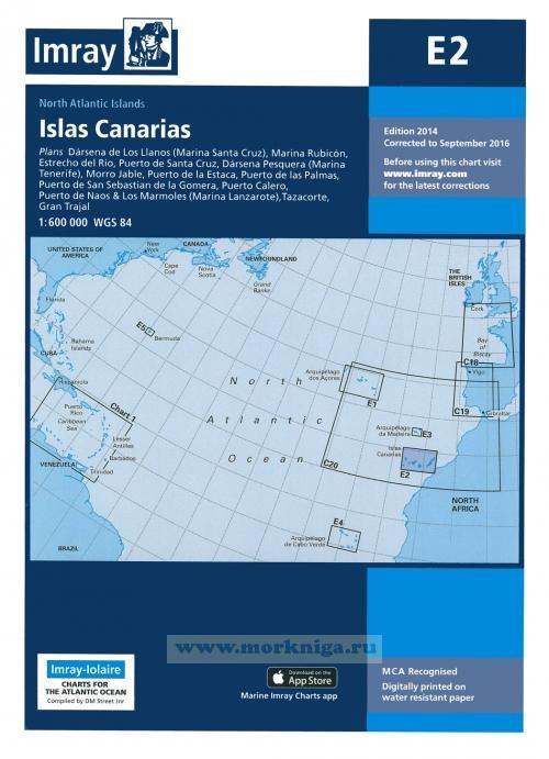 E2 Islas Canarias Канарские острова (1:600 000)