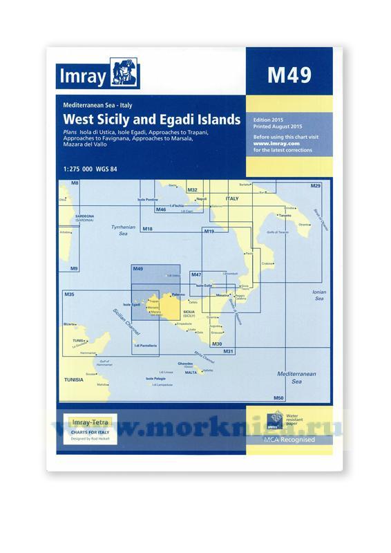 M49 West Sicily and Egadi Islands Западная Сицилия и Эгадские острова (1:275 000)