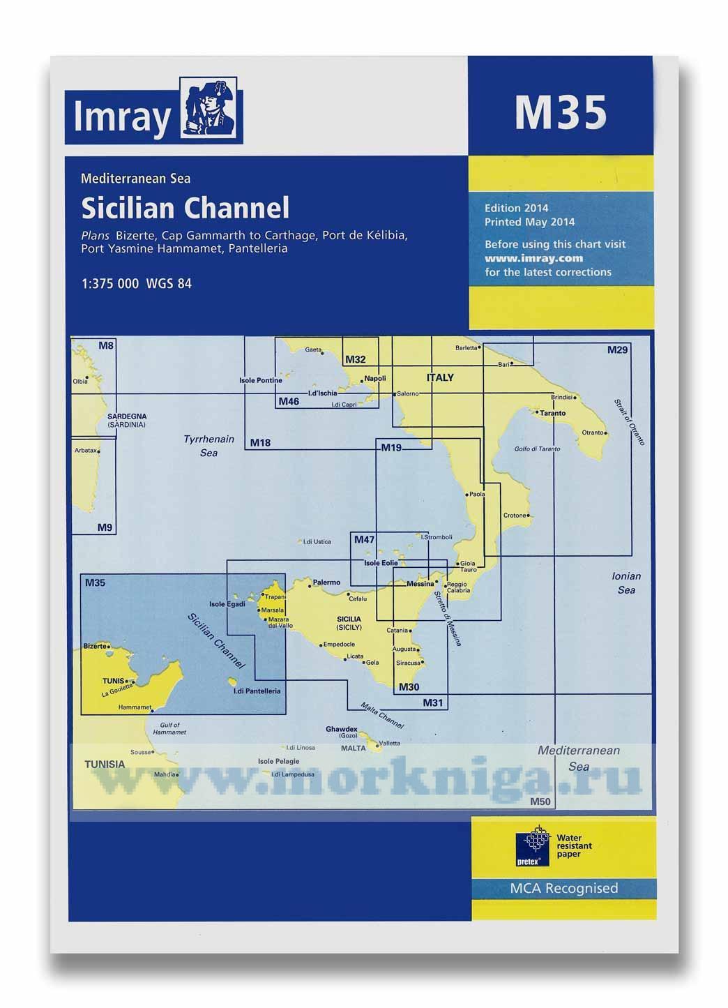 M35 Sicilian channel Сицилийский канал (1:375 000)