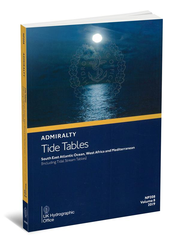 Admiralty Tide Tables. NP208. Volume 8. 2019. South East Atlantic Oсean, West African and Mediterranean