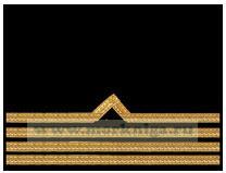 Нарукавный знак различия речного флота (нашивка, шеврон) 4 должностная категория