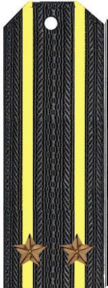 Погоны капитана 2-го ранга (подполковника) вмф (черные)