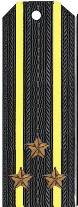 Погоны капитана 1-го ранга (полковника) вмф (черные)