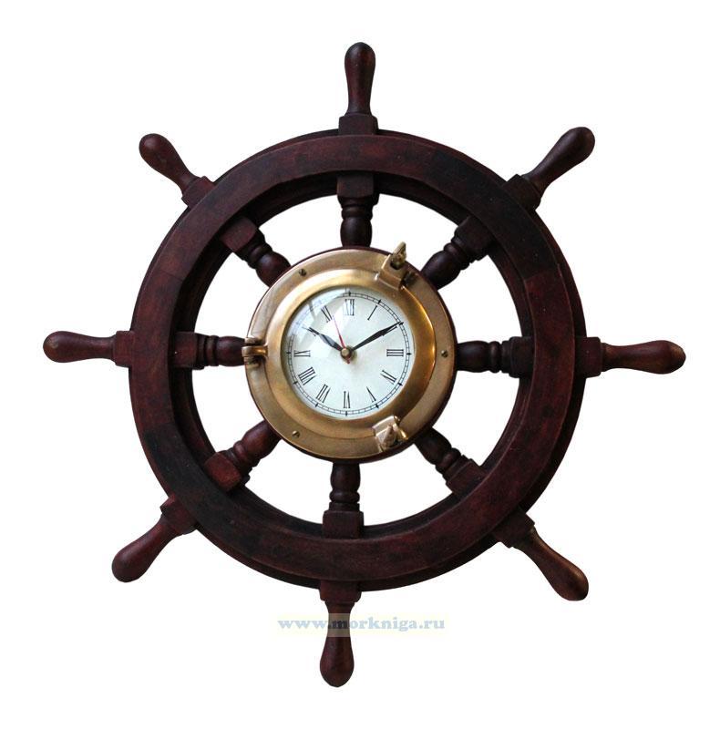 Часы настенные в штурвале