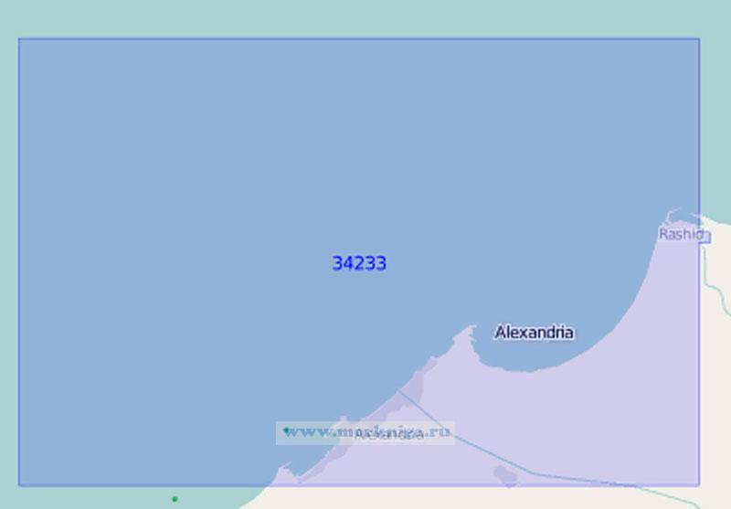 34233 От бухты Абу-Кир до порта Александрия (Масштаб 1:100 000)