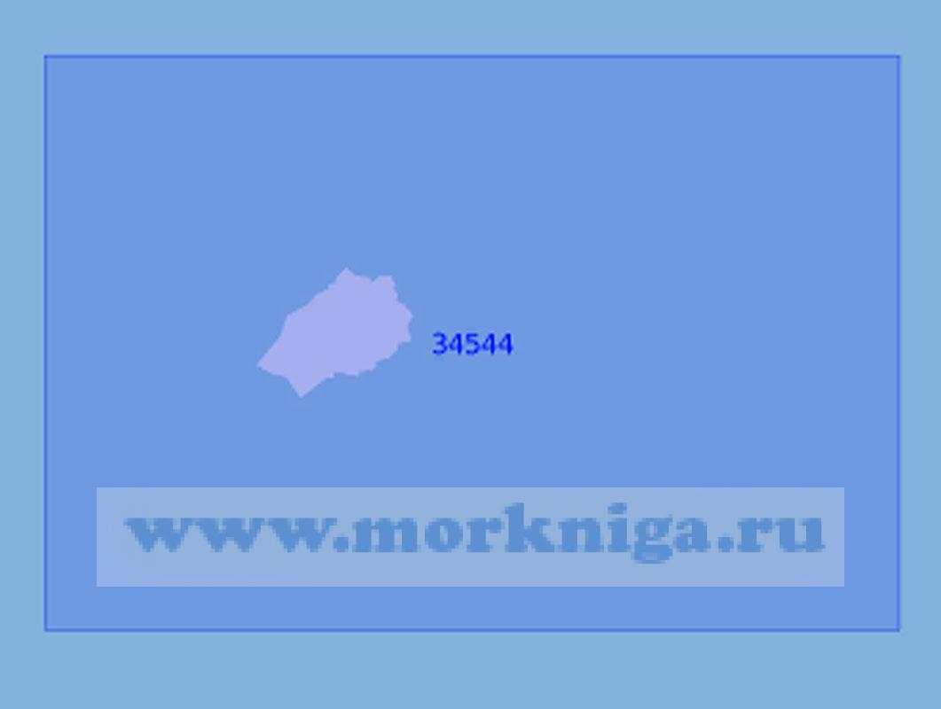 34544 Остров Святой Елены с подходами (Масштаб 1:125 000)