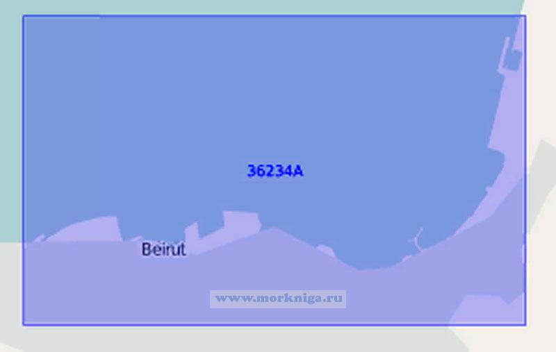36234-А Порт Бейрут с подходами (Масштаб 1:30 000)