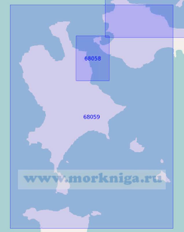 68059 Пролив Старка и пролив между островами Попова и Рейнеке (Масштаб 1:10 000)