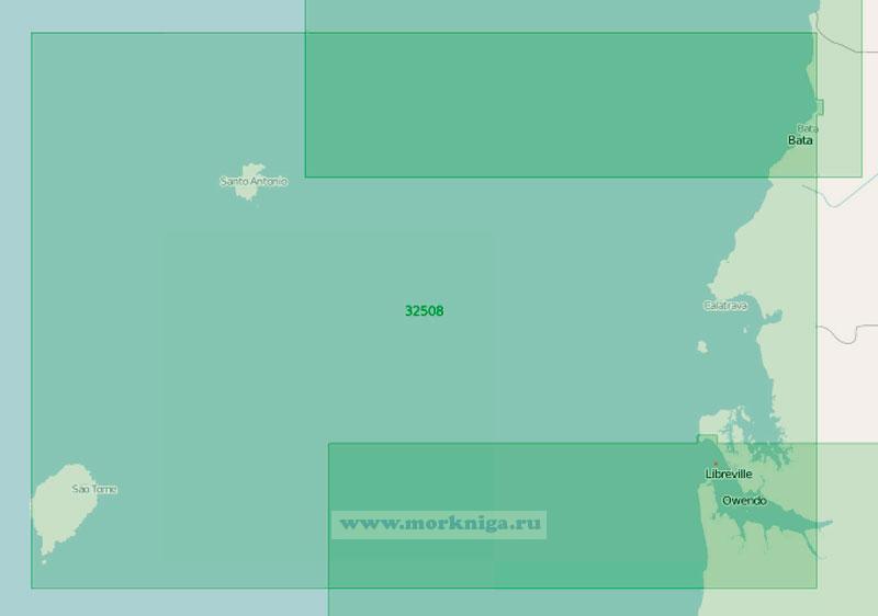 32508 От бухты Бата до порта Либревиль с островами (Масштаб 1:350 000)