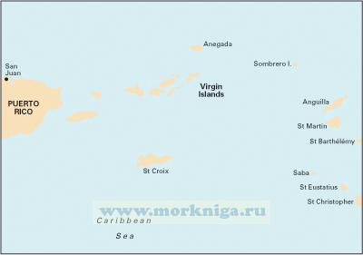 A2 Puerto Rico to the Virgin and Leeward Islands