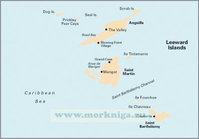 A24 Anguilla, St Martin and St Barth?l?my Ангилья, Сент-Мартен и Сент-Бартелеми (1:100 000)