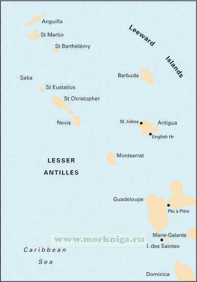 A3 Anguilla to Dominica От Ангильи до Доминики (1:400 000)