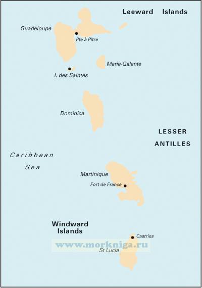 A4 Guadeloupe to St Lucia. Гваделупа