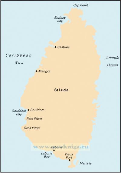 B1 St Lucia Сент-Люсия (1:75 000)