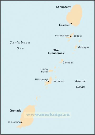 B3 The Grenadines Гренадины (1:200 000)