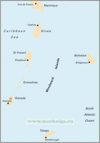 B5 Martinique to Grenada, Tobago and Barbados От Мартиники до Гренады, Тобаго и Барбадоса (1:500 000)