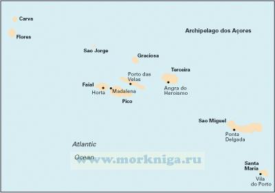 E1 Arquipelago dos Acores Азорские острова (1:750 000)