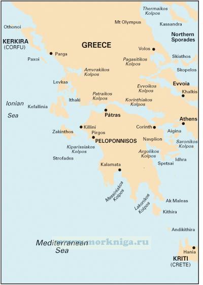 G1 Mainland Greece and the Peloponisos Материковая Греция и Пелопоннес (1:729 000)