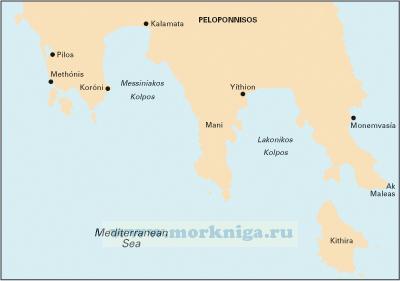 G15 Southern Peloponnisos Южный Пелопоннес (1:190 000)