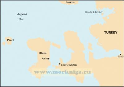 G28 Nisos Khios & the Coast of Turkey Остров Хиос и побережье Турции (1:190 000)