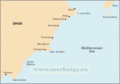 M12 Cabo de Gata to Denia & Ibiza Побережье Испании от Коста дель Соль до Дении, остров Ибица (1: 500 000)