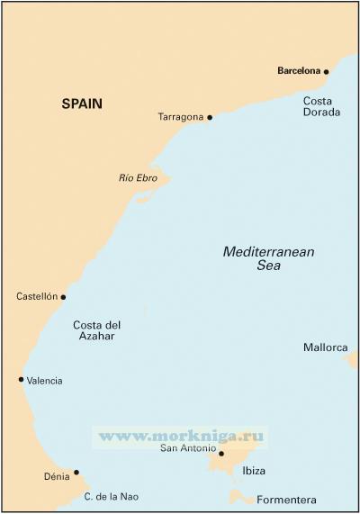 M13 D?nia to Barcelona and Ibiza Побережье Испании от Дении до Барселоны, остров Ибица (1:440 000)