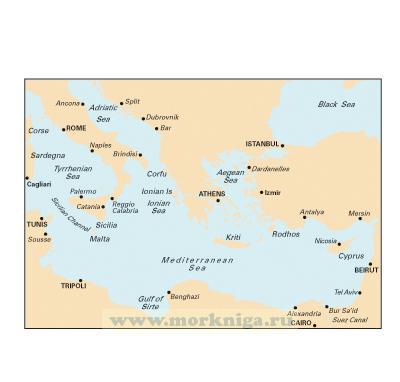 M20 Eastern Mediterranean. Восточное Средиземноморье (1:2 750 000)