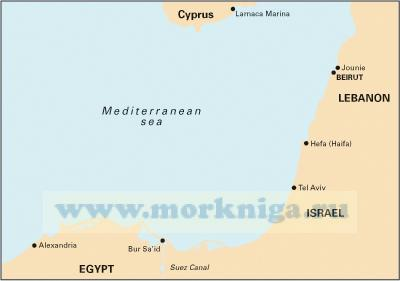 M22 Egypt to Israel, Lebanon and Cyprus. Побережье Средиземного моря: Египет, Израиль, Ливан и Кипр
