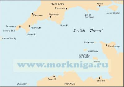 C10 Western English Channel Западный английский канал (1:400 000)