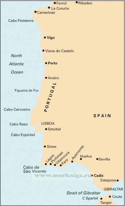 C19 Cabo Finisterre to Gibraltar От мыса Финистерре до Гибралтарского пролива (1:825 000)