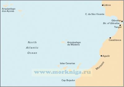 C20 Strait of Gibraltar to Archipelago Des Acores & Islas Canarias От Гибралтарского пролива к Азорскому архипелагу и Канарским островам (1:2 500 000)