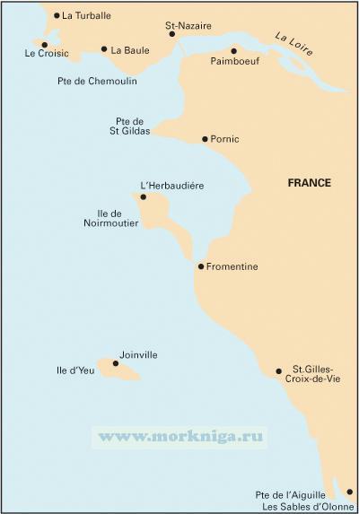 C40 Le Croisic to Les Sables d'Olonne От Ле Круазика до Ле-Сабль-д'Олона (1:110 000)