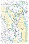 15353 Протока Широкая. Подходы к селению Посино (Масштаб 1: 25 000)