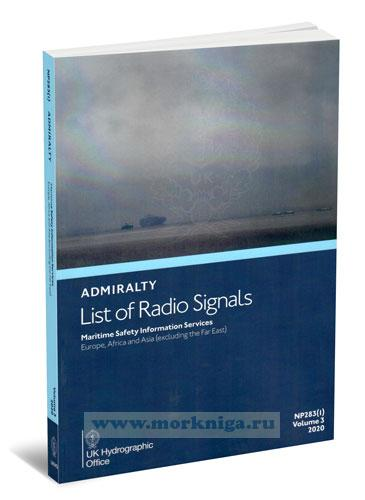 Admiralty list of radio signals. Vol 3. NP283(1) (ALRS). Maritime safety information services. Europe, Africa and Asia (excluding the Far East) 2019/2020
