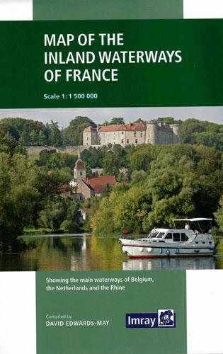 Map of the Inland Waterways of France. Карта внутренних водных путей Франции (1:1 500 000)