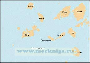 G33 Southern Cyclades (West Sheet) Западная часть южных Киклад (1:190 000)