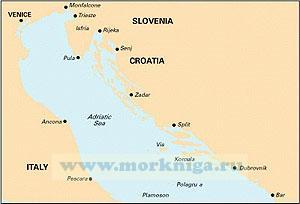 M23 Adriatic Sea. Адриатическое море (1:750 000)