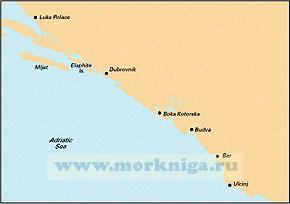 M27 Dubrovnik to Bar & Ulcinj Хорватия и Черногория: Дубровник - Ульцинь (1:220 000)