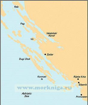 M25 Otok Rab to Sibenik Хорватия Раб - Шибеник (1:220 000)