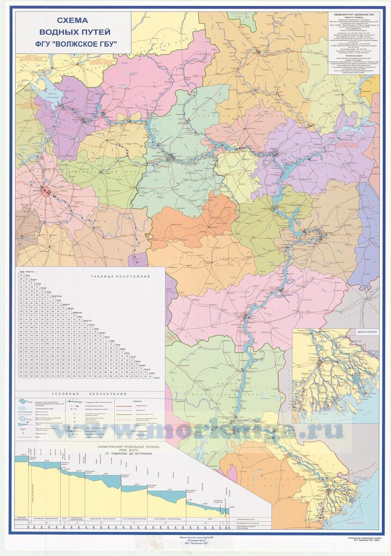 Схема водных путей ФГУ
