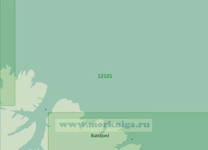 12101 От мыса Нордкин (Хиннародден) до залива Сюльте-фьорд (Масштаб 1:200 000)