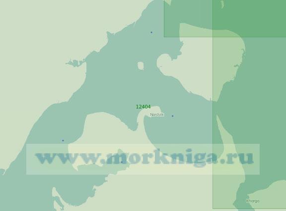 12404 Хатангский залив с островом Большой Бегичев (Масштаб 1:200 000)